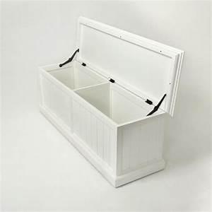 Coffre De Rangement Interieur : banc coffre de rangement en bois blanc royan ~ Teatrodelosmanantiales.com Idées de Décoration