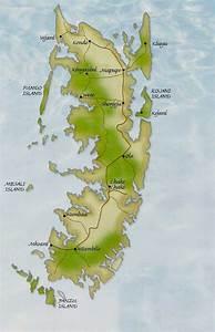 Zanzibar Map including Ungaja Island and Pemba Island