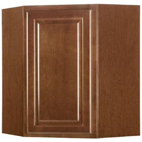 home depot cognac cabinets hton bay 24x30x12 in wall diagonal cabinet in cognac
