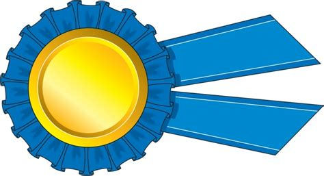 Blue Ribbon Clip Free Clipart Blue Ribbon Award Clipground