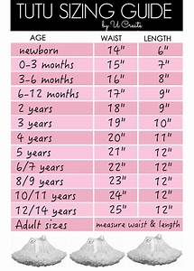 Tutu Sizing Guide Chart