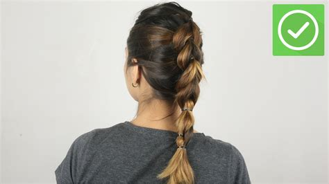 How To Create A Pull Through Braided Ponytail With Pictures