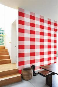 Gingham self adhesive diy wallpaper home decor by artboardi