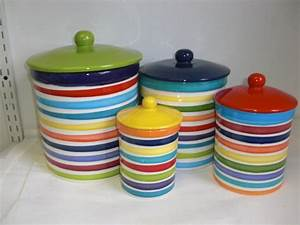 Canisters. extraordinary colorful canisters set ...
