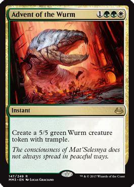 mtg wurm deck standard advent of the wurm instant cards mtg salvation