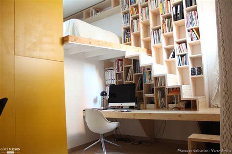 bibliotheque bureau création d 39 un meuble bureau bibliothèque escalier veran