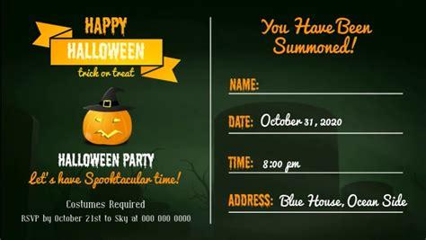 Halloween Invitation Facebook Cover Video Template
