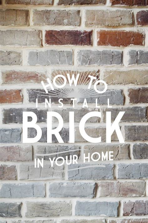 Grouting Brick Veneer   Vintage Revivals   Bloglovin?