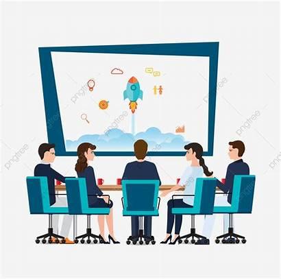 Conference Meeting Data Analysis Interpretation Vector Cartoon