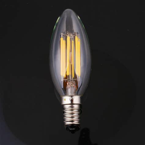 4 led light bulbs dimmable e12 light bulb led retro edison cob filament
