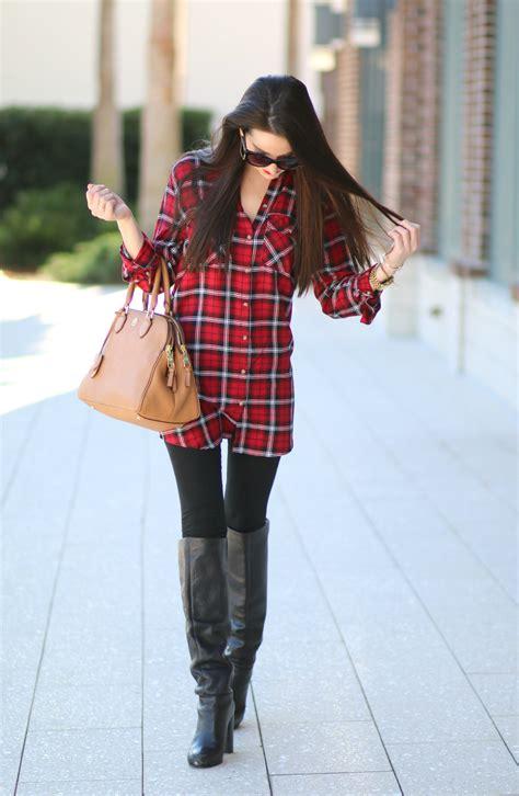 Red Plaid Shirt Dress - Diary of a Debutante
