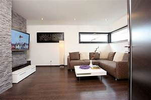 Wohnzimmer mit steinwand haus pinterest for Wohnidee wohnzimmer