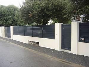 Cloture Sur Muret : brise vue aluminium sur muret luxe brise vue mur mitoyen ~ Carolinahurricanesstore.com Idées de Décoration