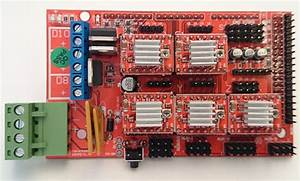 Ramps 1 4 3d Printer Controller 5pcs 4988 Driver With Heat