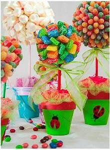 Deco Bonbon Anniversaire : centro de mesa anniversaire anniversaire f te bonbons et deco anniversaire ~ Melissatoandfro.com Idées de Décoration