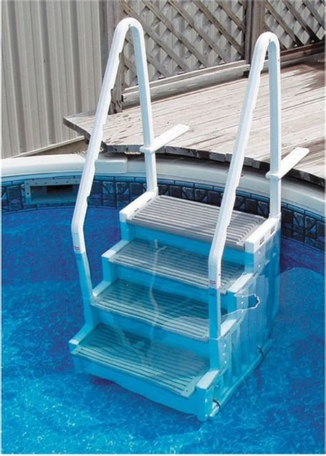 Above Ground Pool Ladder For Deck by Confer Plastics Above Ground Pool Steps Modern Desk