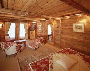 deco chalet montagne table de lit With decoration montagne pas cher