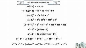 Polynomial Formulas
