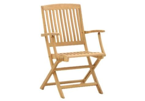 teak comfort folding arm chair commercial site furnishings