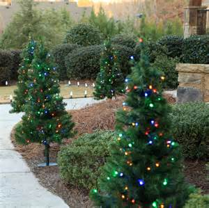 outdoor decorations 2 walkway pre lit winchester fir tree 50 warm white led ls