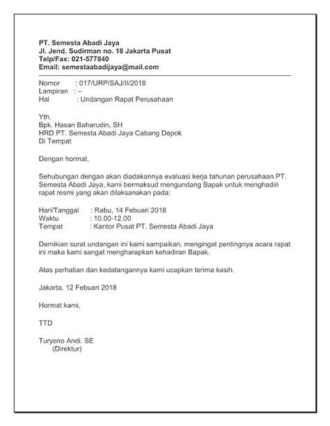Contoh Surat Undangan Resmi Perusahaan by Sisurat 5 Contoh Surat Undangan Rapat Perusahaan Pt