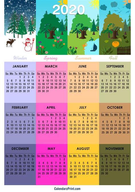 calendar printable   seasons calendar