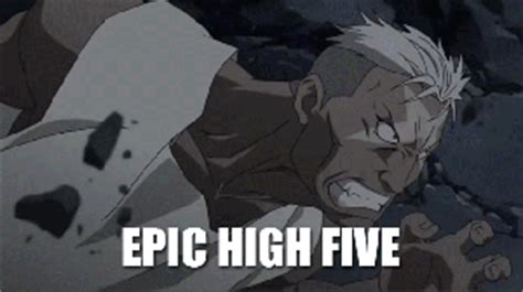 anime gif high five epic high five gif