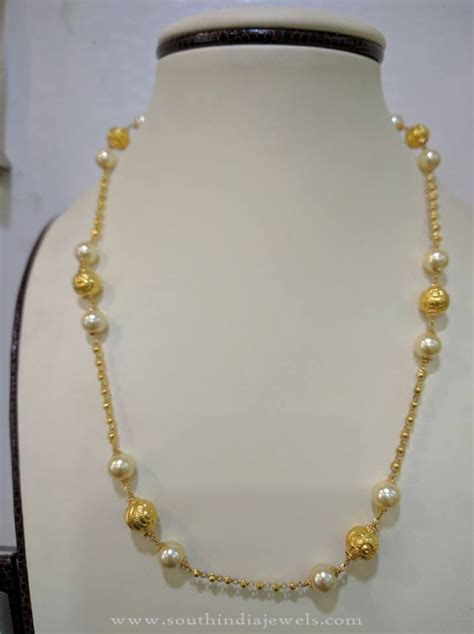 22k Gold Light Weight Pearl Chain  South India Jewels. Diamond Graduated Necklace. Rolex Watches. Tsavorite Pendant. Investment Grade Diamond. Groom Engagement Rings. Diamond Baguette Bracelet. 22k Gold Jewellery. Gym Rings