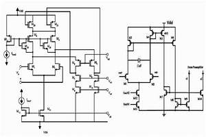 schematic of a folded cascode amplifier without the With dc bias circuit