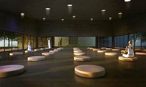 Meditation hall design, japanese meditation garden