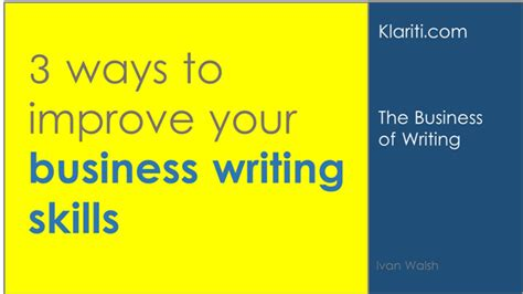 improve  business writing skills