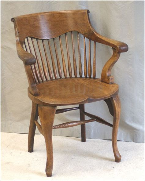9055 9058 antique oak desk chairs by shoolbred