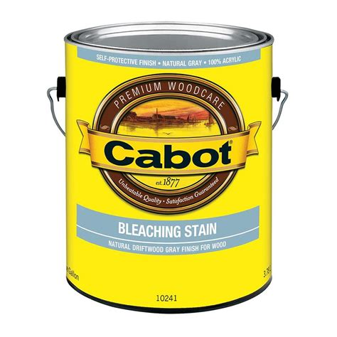 cabot pre tinted bleaching exterior stain  sealer