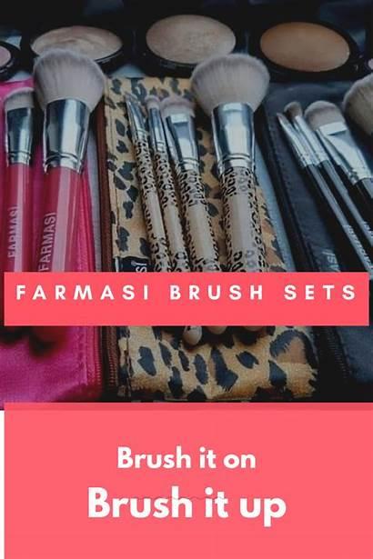 Farmasi Brush Sets Eyebrows Eyeshadow Blush Foundation