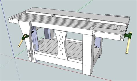 workbench plans google sketchup  woodworking