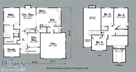lovely 2 story 4 bedroom house floor plans new home