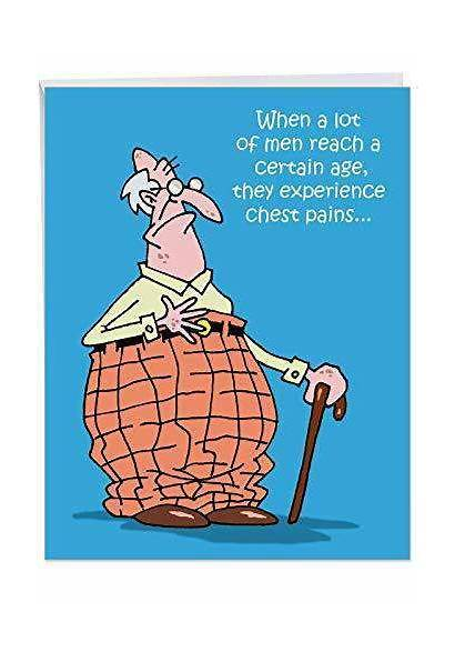 Birthday Funny Card Greeting Cane Cartoons Pants