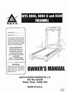 Download Keys Fitness Treadmill 8800 Manual And User