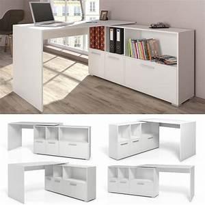 Eckschreibtisch Mit Aufsatz : mesa de escritorio en l escritorio esquinero escritorio computadora blanco ebay escritorio ~ Markanthonyermac.com Haus und Dekorationen