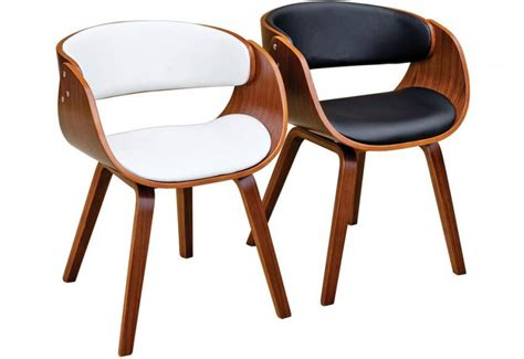 febland brando dining chairs walnut effect formed