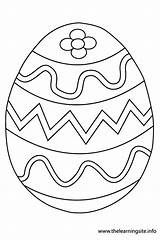 Easter Egg Outline Coloring Pages Printable Flashcard Eggs Colouring Template Thelearningsite Info Discover sketch template