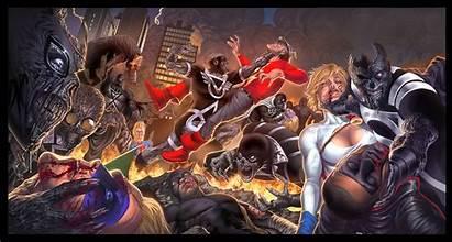 Blackest Night Power Jsa Dc Comics Poster
