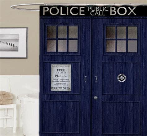 Doctor Who Custom Shower Curtain, From Banyuudan On Etsy
