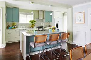 our 55 favorite white kitchens hgtv With kitchen colors with white cabinets with hand drawn wall art