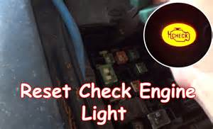 How To Reset Service Engine Soon Light diy reset check engine light without obdii reader youtube