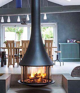 bordelet zelia  suspended wood burning fireplace