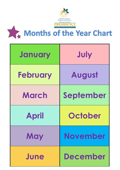 fresh months   year  preschool fun worksheet