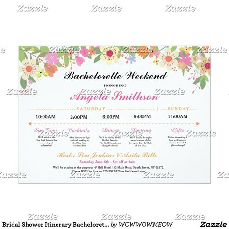 Baby Shower Itinerary Wedding Best 25 Bachelorette Card Ideas On