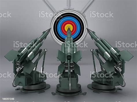missiles aiming  target stock photo  image