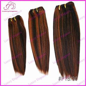 1b 30 Mixed Color Hair Weave Extensions Indian Yaki